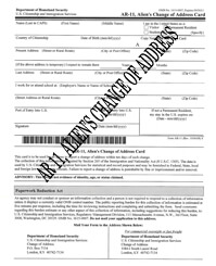 ar-11 form / change of address form