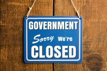 How does a government shut down affect immigration? Government shut down sign