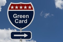 Green Card Road Sign