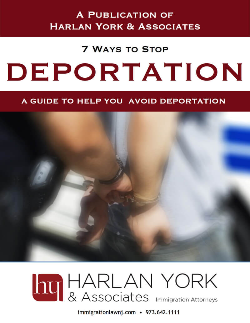 Free book cover on how to stop deportation. The cover has two hands handcuffed together